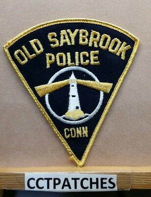 Old Saybrook, Connecticut Police Shoulder Patch Ct