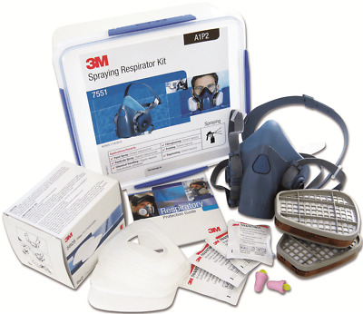 3M SPRAYING RESPIRATOR STARTER KIT Sealable Storage Container, Size-M *USA Brand