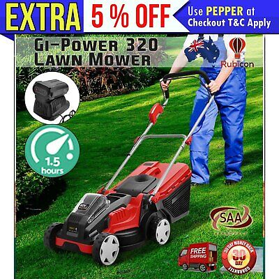 Gi-Power Lawn Mower Cordless Lawnmower Lithium Battery Powered Electric Garden