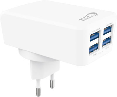 Charger plug network with 4 ports USB - NTT30 Accessories Computer