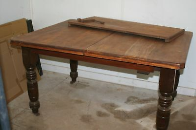 Antique Wooden Wind Out Extension Dining Table