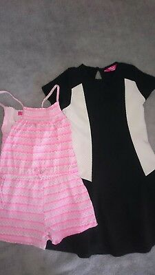 7-8 years summer dress and playsuit