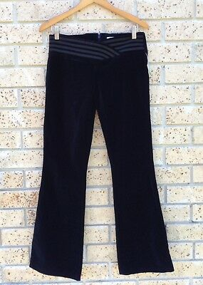 J-Lo By JENNIFER LOPEZ Size 8 Designer Black Velvet Low Rise Flares Dance Pants