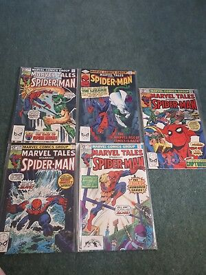 Marvel Tales starring spiderman issues 131, 127, 128, 130, 143