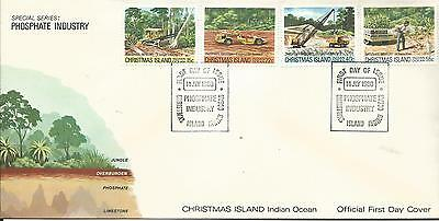 1980 FDC  Phosphate Industry set 4 FDI 14 July 1980 Christmas Island