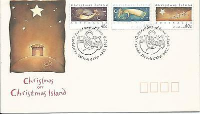 1994 FDC  Christmas set of 3 Stamps FDI 8 Sept 1994 Christmas Island
