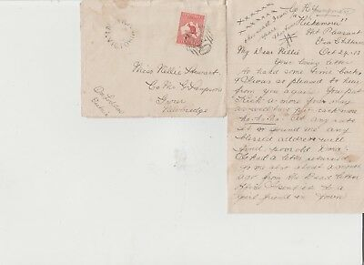 """OLD  1st WWAR LETTER FROM CP H>YOUNGMAN TO """"NELLIE STEWART """"CO MR SAMPSON"""
