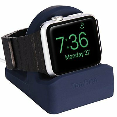 Apple Watch 38MM 42MM Series 1 2 3 Charging Dock Charger Night Stand Mode Blue