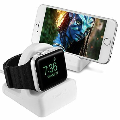 Apple Watch 38MM 42MM Series 1 2 3 Charging Dock Charger Night Stand Mode White