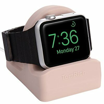 Apple Watch 38MM 42MM Series 1 2 3 Charging Dock Charger Night Stand Mode Pink