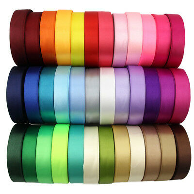 Satin Ribbon Double Sided Various Colours Widths Lengths Craft Sewing Cake Etc