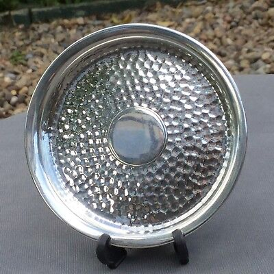 William Comyns Solid Silver Planished Arts & Crafts Pin Dish - London 1911