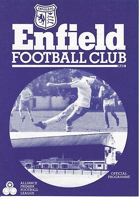 Enfield v Wealdstone FA Cup 1st Round Replay 1983/84