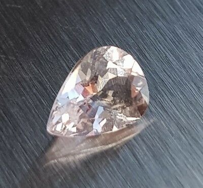 WaterfallGems Small Morganite Pear, 6.3x4.6mm, 0.46ct