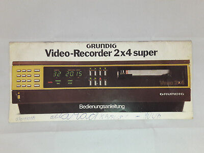 Grunding Video-Recorder 2x4 Super Bedienungsanleitung Manual