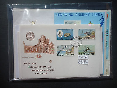 Isle Of Man 1979+80 Year Sets 15x First Day Covers