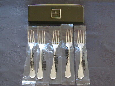 Christofle Spatours 5 Forks Fish New  In Blister-Package Farm