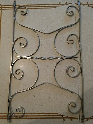 Vintage Mid Century Aluminum Scrolled Screen Door Grill Guard 3b
