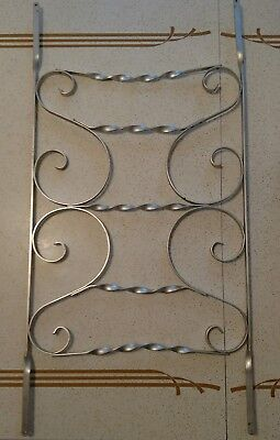 Vintage Mid Century Aluminum Scrolled Screen Door Grill Guard 4b