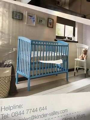 Kinder Valley Mini Kai Cot In Blue