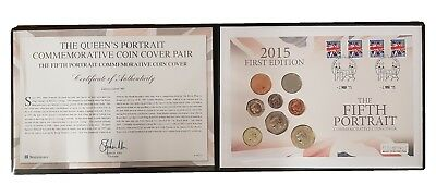 2015 The Fifth Portrait Commemorative Coin Cover c/w 8 Coins