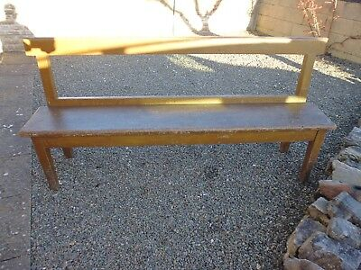 Chapel Pine Bench in untouched original condition.