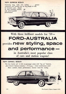 "1959 FORD ZEPHYR SIX AD PRINT WALL POSTER PICTURE 33.1/""x23.4/"""