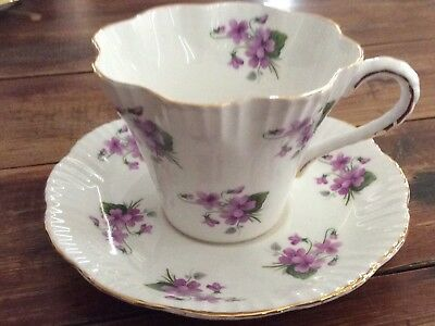 Salisbury Teacup Saucer Plate Coffee Cup Vintage Collectable Violets
