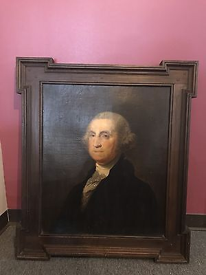 Early 19th Century Oil On Canvas Portrait Of George Washington