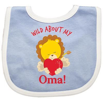 Inktastic Wild About My Oma Baby Bib Family Lion Valentines Day Valentine Heart