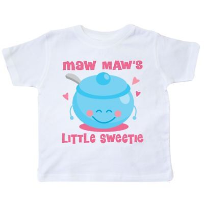 Inktastic Maw Maw Little Sweetie Toddler T-Shirt Mawmaw Maws Gift From Sweet Kid