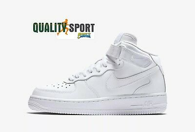 NIKE AIR FORCE 1 Mid Scarpe Shoes Donna Ragazzo Sneakers 314195 113 ... 01e70b448bd