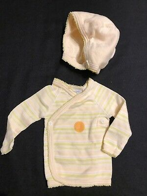 Petit Bateau  Newborn Shirt and Hat