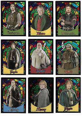 Lord of the Rings Evolution 10 Stained Glass Card Set  Topps - 2006