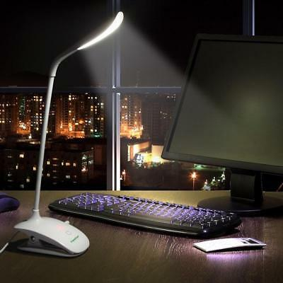 Table LED Lamp Desk Light Student Lamp USB Rechargeable Switch Touch Clip Light