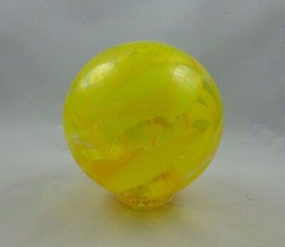 "Yellow  6"" Sitting Fish Float ~ Ocean Beaches Glass Seal Rock, OR"