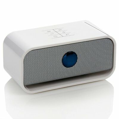 Brookstone Big Blue Live Wireless Bluetooth Speaker WHITE  Used