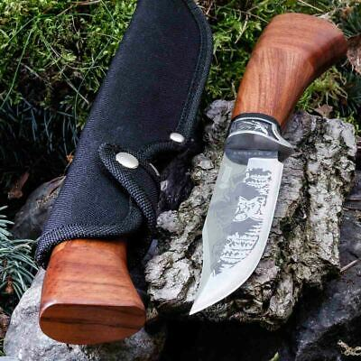 10.83in KANDAR A-3172 FIXED BLADE KNIFE HUNTING A.