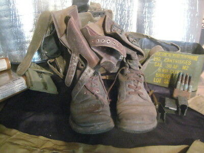ww2 Army Combat Boots M1943  D-Day GI estate size 8 E FN NO RESERVE