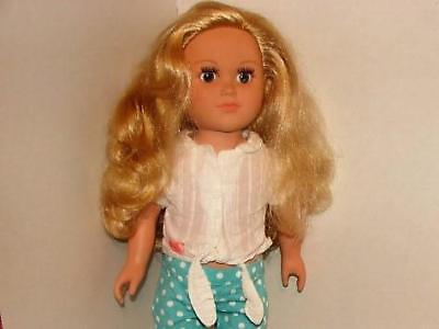 Cititoy Doll~ 18 Inches Tall~Blonde Hair & Blue Eyes~Dated 2013~