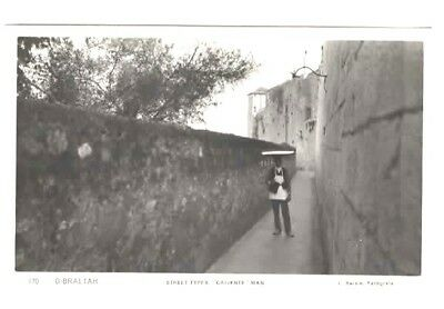 RPPC Gibraltar Street Types Caliente Man  c1930s Photographed by L Roisin