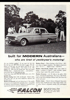 "1961 XK FORD FALCON SEDAN AD A4 CANVAS PRINT POSTER 11.7""x8.3"""