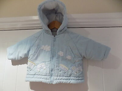 Dani / Sarah Louise boy's cute padded coat size 0-3 months 3m     rb