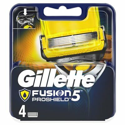 Gillette Fusion Proshield - 4, 6 and 8 Blade Packs - 100% Genuine - Proglide Fit