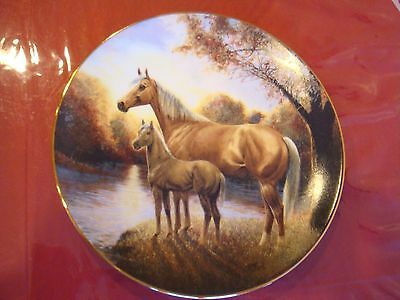 AUTUMN REVERIE  HORSE PLATE BY CHUCK DeHAAN  WITH COA