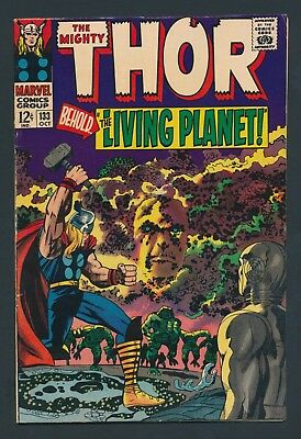 Marvel Comics Thor #133 1966 - Ego Appearance - Nice Copy!