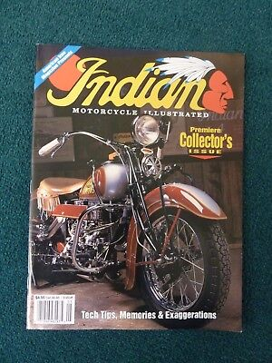 Premiere Issue Indian Motorcycle Illustrated Magazine Chief Four Racer Motocycle