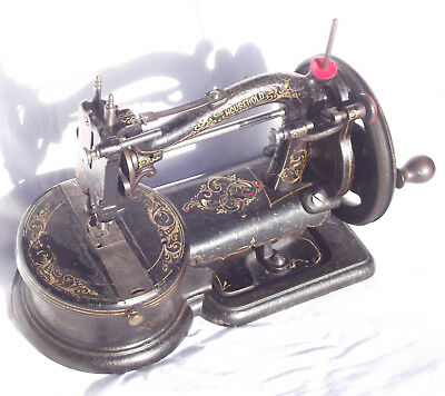 Antique collectable rare Canadian Raymond 'Household' sewing machine, 1870s