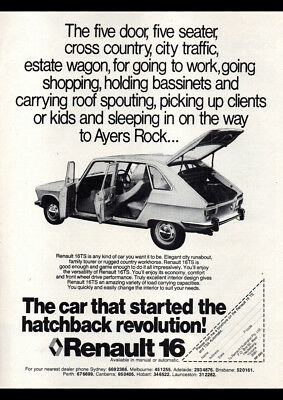 """1977 RENAULT 16 HATCHBACK AD A4 CANVAS PRINT POSTER 11.7/""""x8.3/"""""""