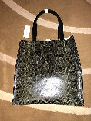 a2fc0274d0c2 BANANA REPUBLIC PORTFOLIO Structured Tall Snake-Effect Womens Tote ...